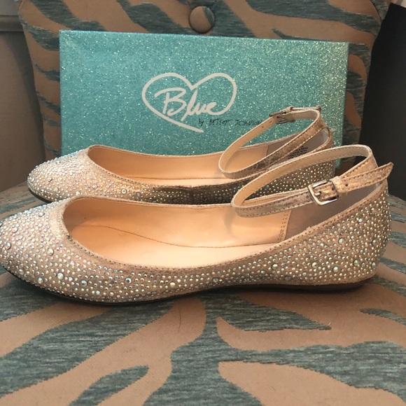 58e158830 Betsey Johnson Shoes | Blue By Evening Flats Never Worn | Poshmark